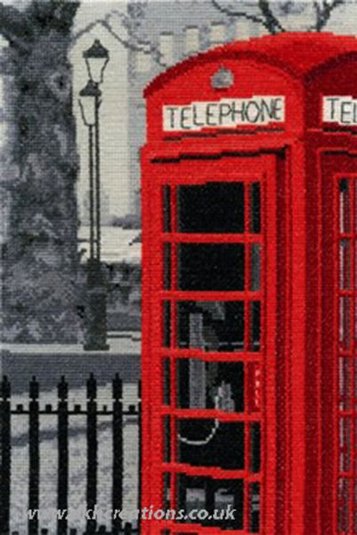London Telephone Cross Stitch Kit